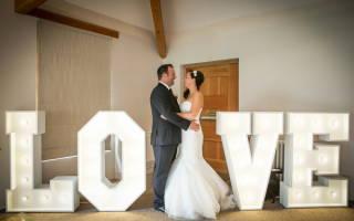 Как сделать буквы на свадьбу своими руками