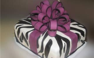 Как сделать бант из мастики на торт