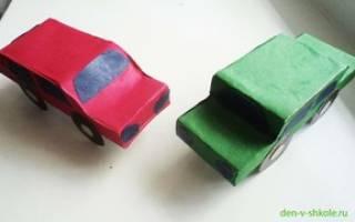 Как сделать из коробки машину