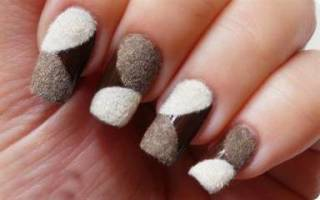 Как сделать бархатные ногти