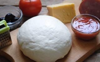 Как сделать дрожжевое тесто для пиццы