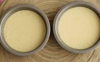 Как сделать бисквитное тесто