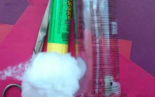 Как сделать деда мороза из пластикового фильтра